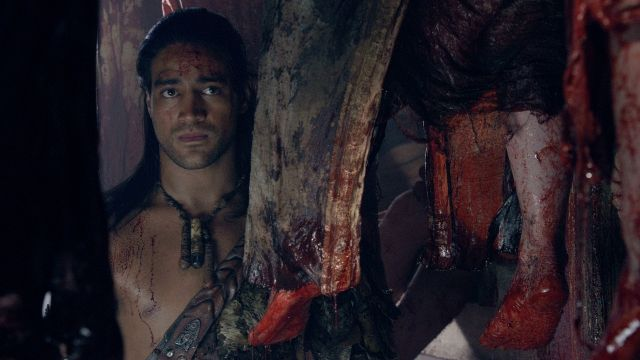 Season 4 Nasir Covered In Blood Is Upset Because Agron Wont Talk