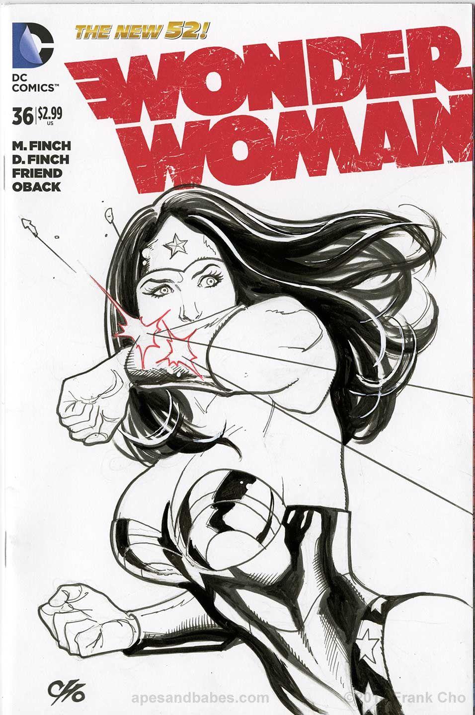 Frank Cho Women  Frank Cho Wonder Woman Sketch Cover -8174