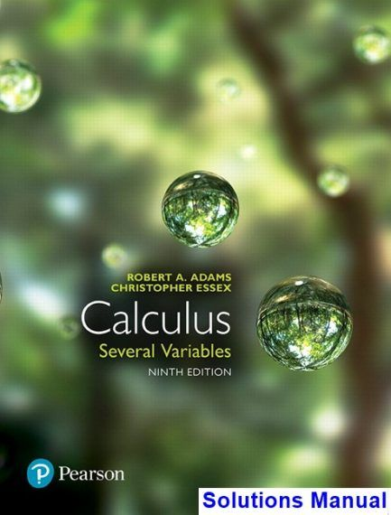 calculus several variables canadian 9th edition adams solutions