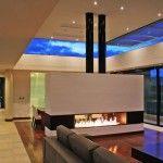 Contemporary House Ship Design: Living Room With Fire Place Ship House Design