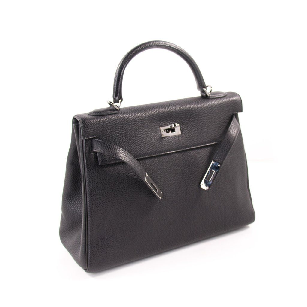 235f5b9d131c Shop authentic Hermès Kelly 32 Retourne Noir Togo at revogue for ...