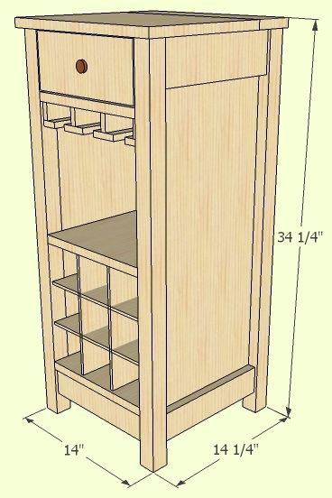 Mini Mod Wine Bar Furniture Plans Wine Cabinets Bar Furniture