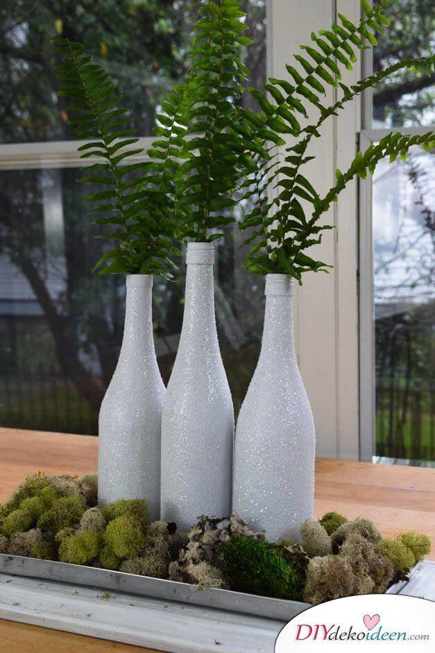 TOP 30 DIY Weihnachtsdeko Bastelideen mit Weinflaschen