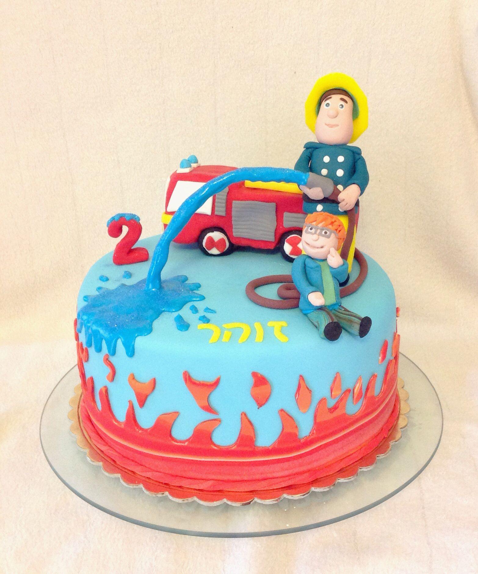 Firefighter Cupcake Decorations Fireman Sam Cake By Bellasbakery Cakesdecorcom Cake