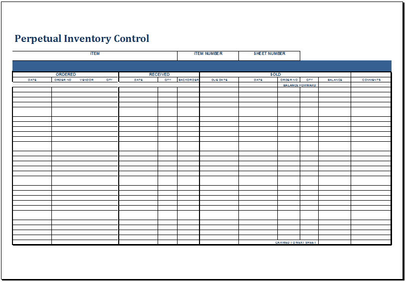 Grocery Inventory List Template At HttpWwwXltemplatesOrg