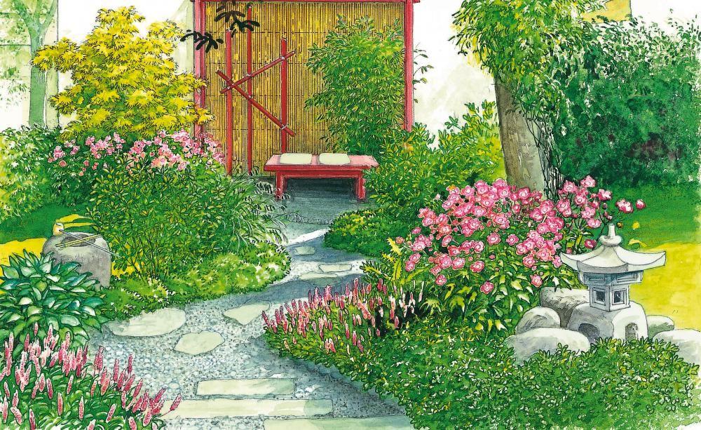 garten idyll auf kleinstem raum pflanzplan garten anlegen und sch ne g rten. Black Bedroom Furniture Sets. Home Design Ideas