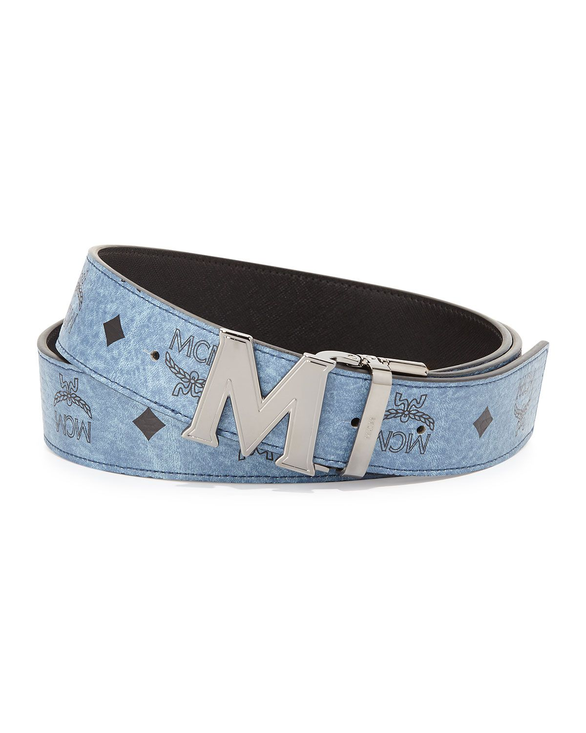 Reversible M Buckle Monogram Belt Denim Mcm Belt Real Leather Belt Mens Belts All items are authenticated through a rigorous process overseen by experts. mcm belt real leather belt mens belts