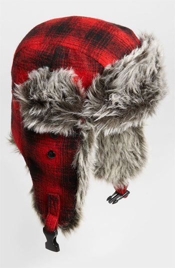 4de00b1c7c1 Free Authority  Red Buffalo  Plaid Faux Fur Trapper Hat