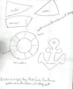 454cbe0354 Resultado de imagem para molde de boina de marinheiro infantil ...
