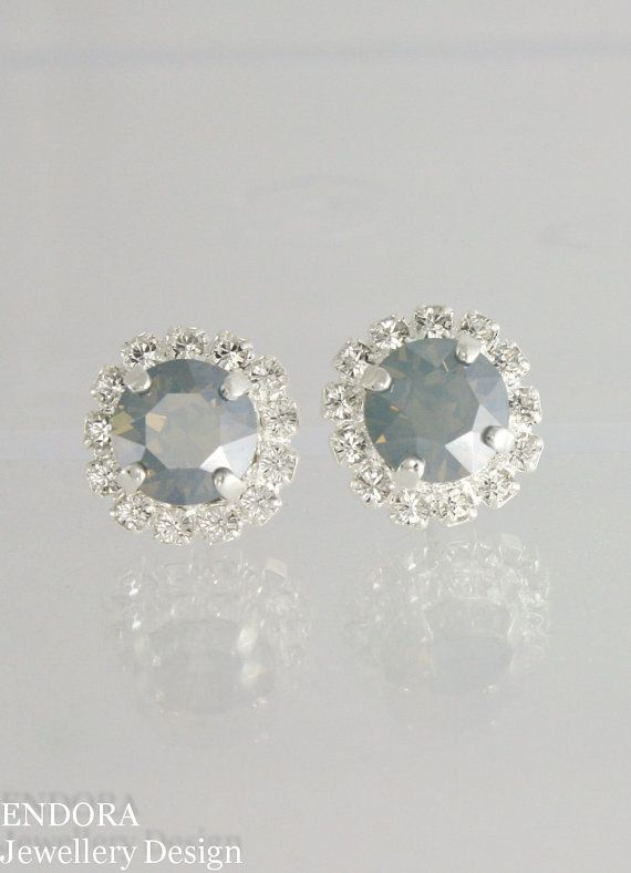 Dusty blue earrings| Dusty blue wedding |dusty blue| dusty ...