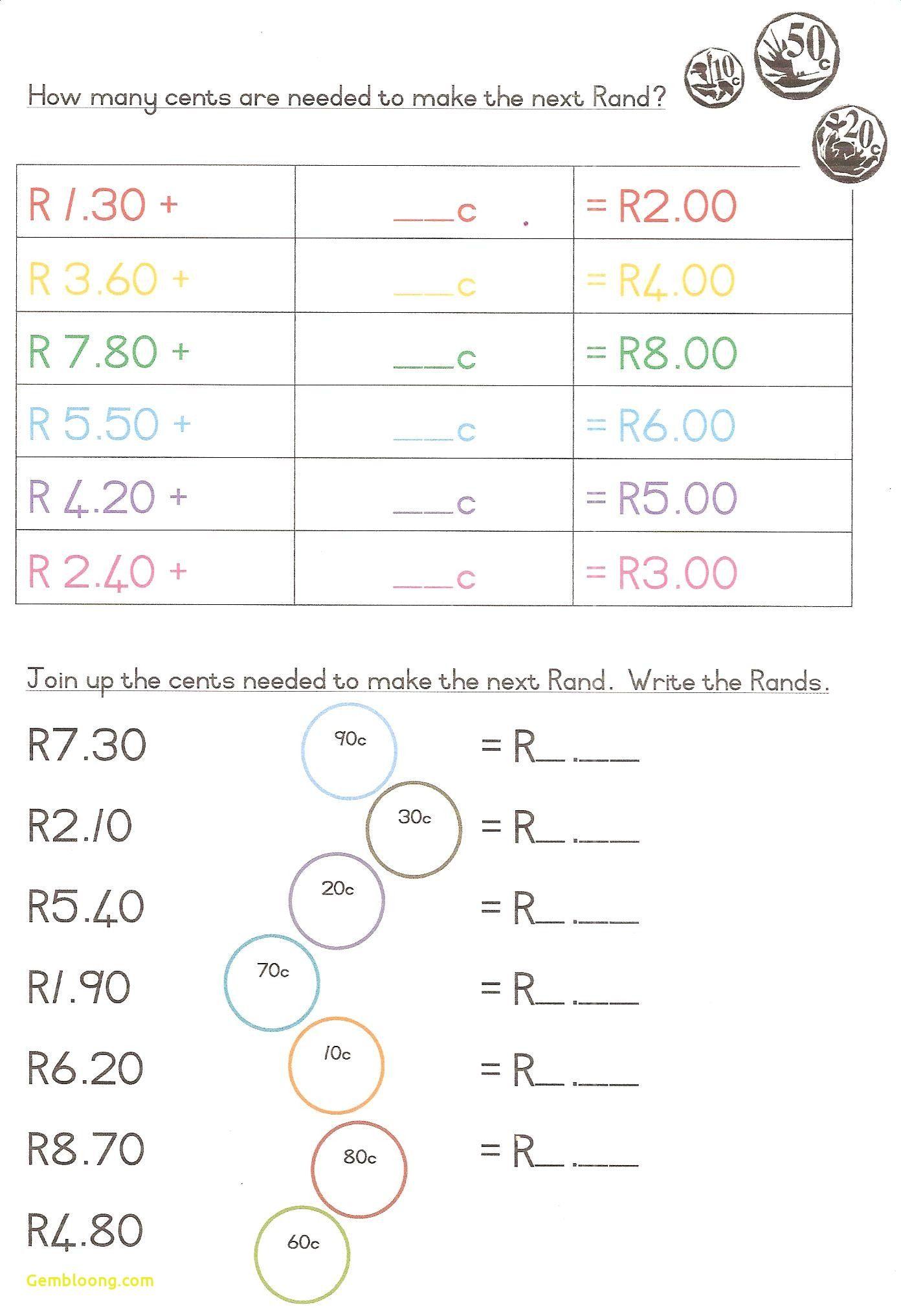 Official Money Addition Worksheets Worksheet Printable
