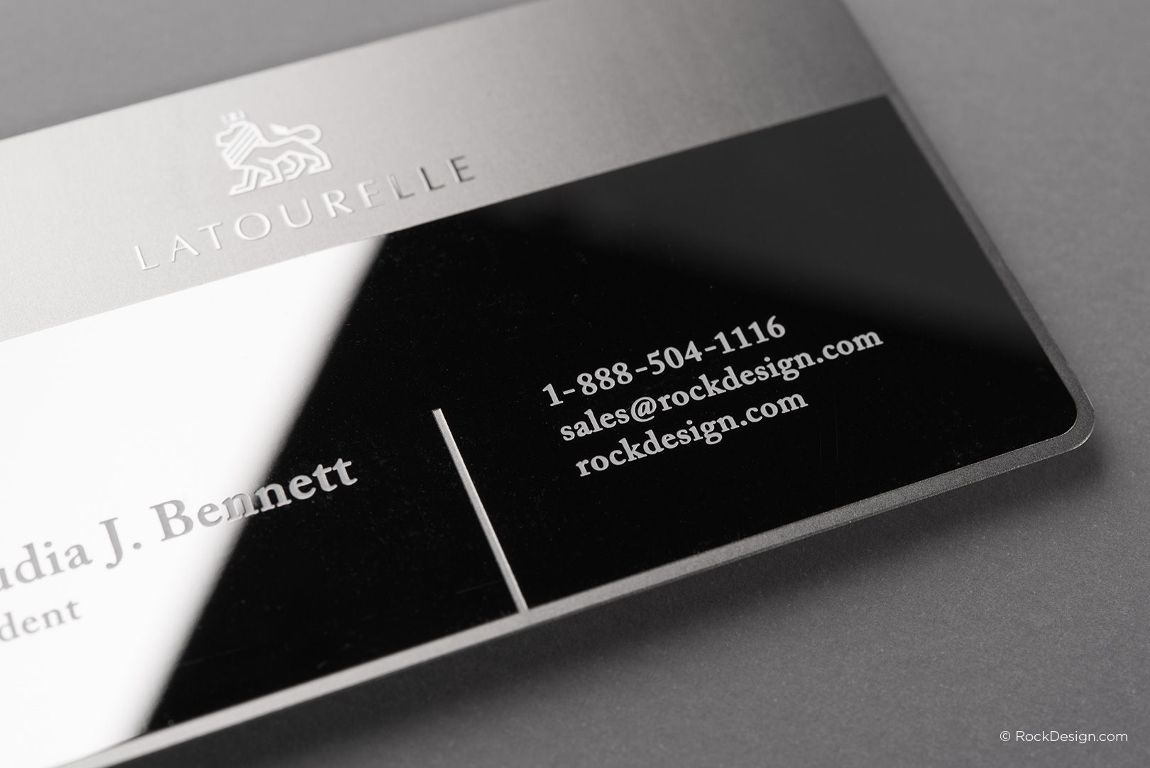 Sophisticated modern stainless steel business card with etching and sophisticated modern stainless steel business card with etching and mirror finish latourelle rockdesign luxury colourmoves