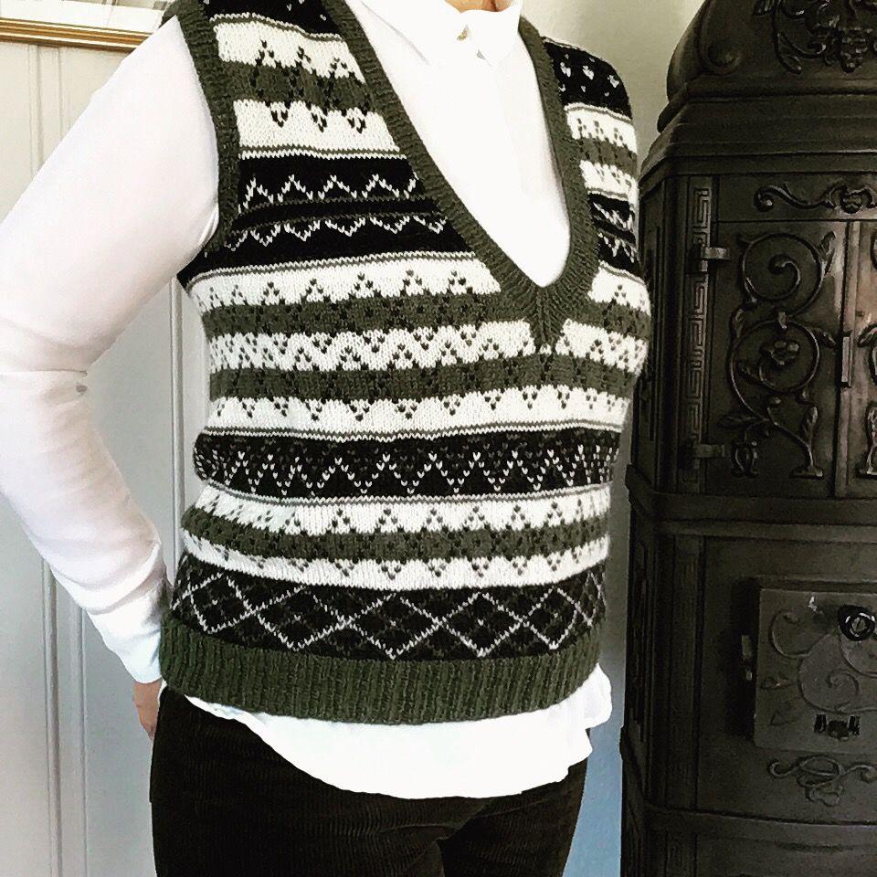 Photo of Strikket vest slipover