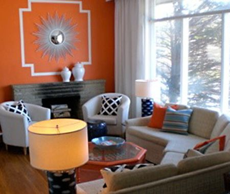 Rooms With Orange Accent Wall. Orange And Gray Living Room Google Search Part 44
