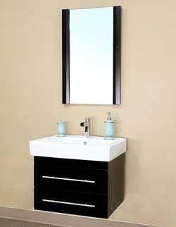 "24 ¼"" Bellaterra Home Bathroom Vanity 203102-S #BellaterraHome #HomeRemodel #BathroomRemodel #BlondyBathHome #BathroomVanity"