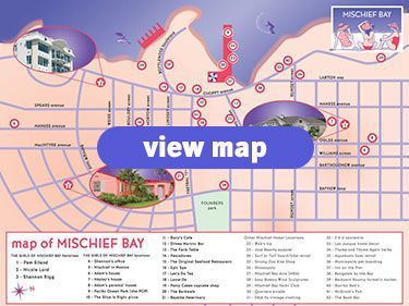 Visit MischiefBaycom to see a map of Mischief Bay California
