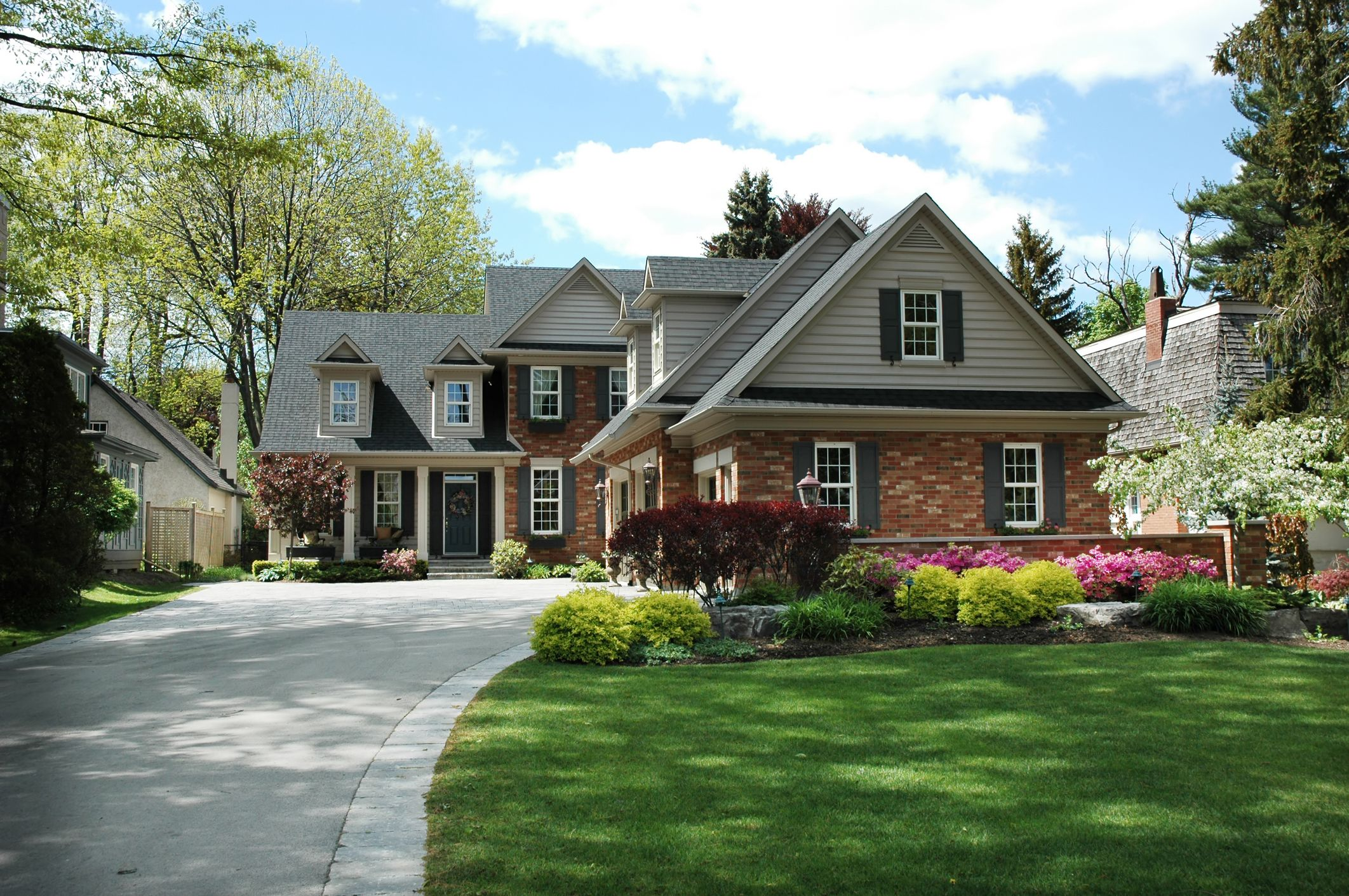 Exterior shutters on a beautiful house. | Fantasy House | Pinterest ...