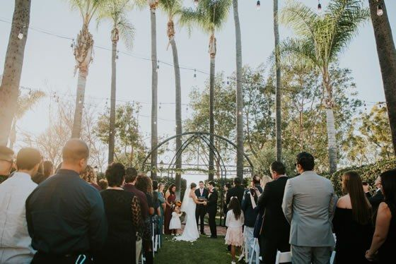 This Outdoor Ceremony At Sunset Is One Word Gorgeous Colette S Events Orange County Wedding Caterers