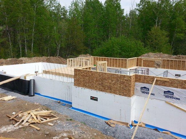 Week 4 framing the knee wall diy house pinterest foundation fox block icf foundation solutioingenieria Gallery