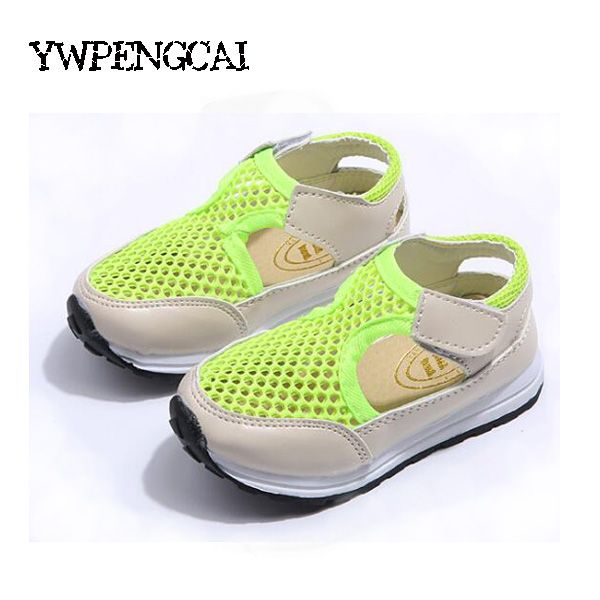 2017 spring and summer new Korean fashion shoes for boys and girls sandals  hollow mesh