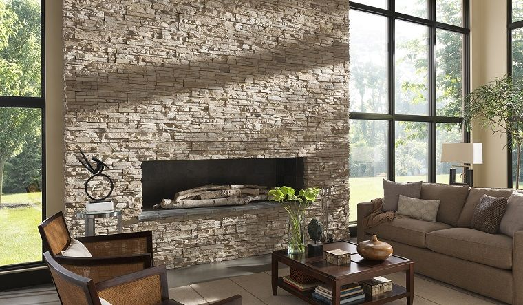 camini-in-pietra-parete-grande | Camino in pietra | Pinterest