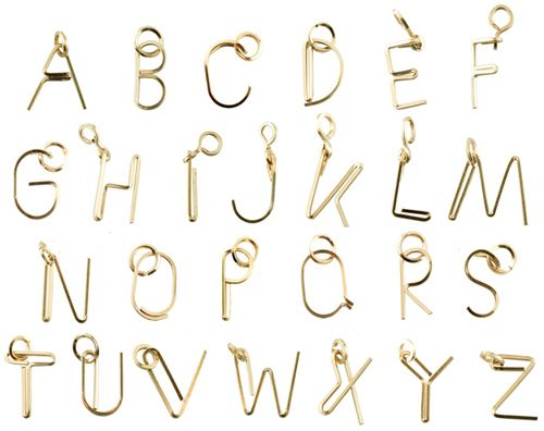 No One Can Resist A Bent Paperclip Letter Pendant  Accessories