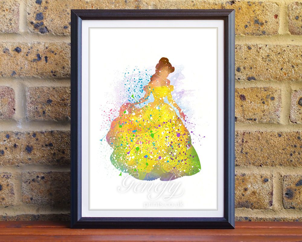 Disney Princess Belle Beauty and the Beast Watercolor Art/Painting ...