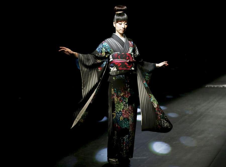 Kimonos presented at Tokyo Fashion Week