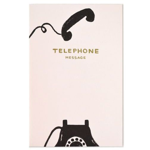 Rifle Paper Vintage Telephone Notepad #paper-desk-accessories #paper-memo-notepads