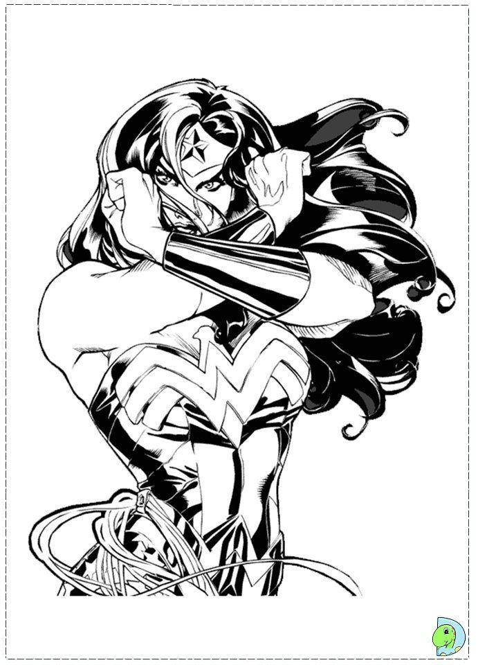 Coloring page Vbs Pinterest Wonder Woman