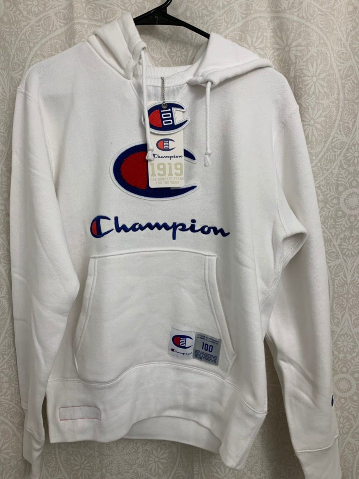 Champion White Hoodie Century Collection White Hoodie Hoodies Shirts [ 1600 x 1200 Pixel ]