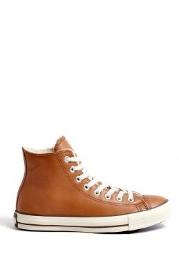d528c5404040 Tan Leather Chuck Taylor All Star High Tops by Converse