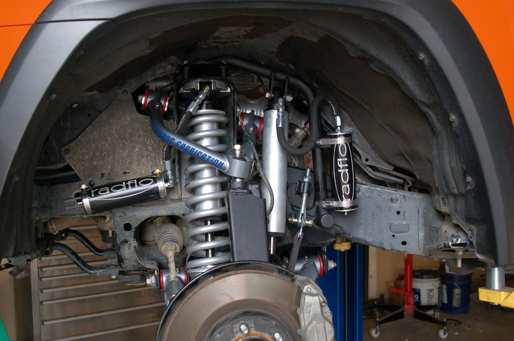 The 4Runner is all buttoned up with it's new suspension