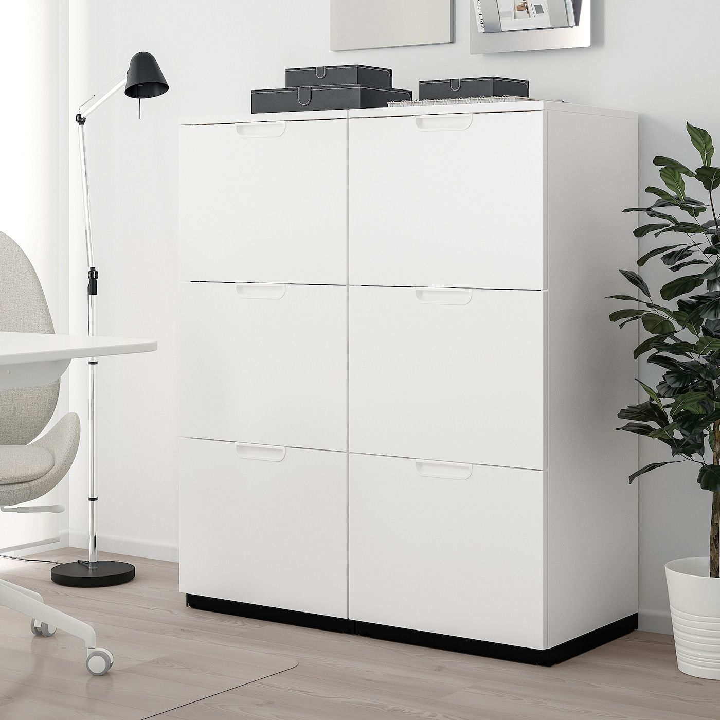 Galant Storage Combination With Filing White 40 1 8x47 1 4