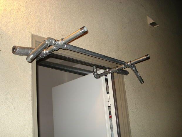 No Screws Or Holes Pull Up Bar Door Gym Diy Pull Up Bar Pull
