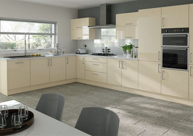 Ultragloss Cream Kitchen Doors from Kitchen Door Workshop