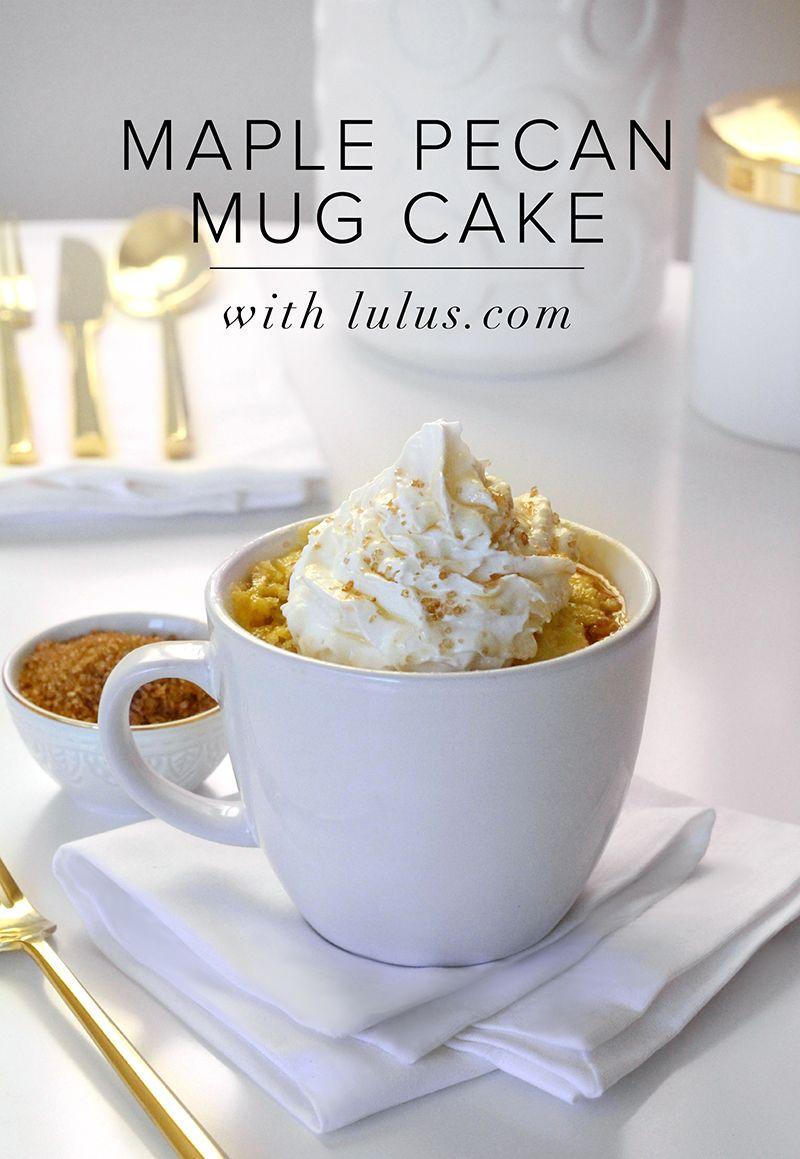 The Perfect Thanksgiving Dessert: Maple Pecan Mug Cake