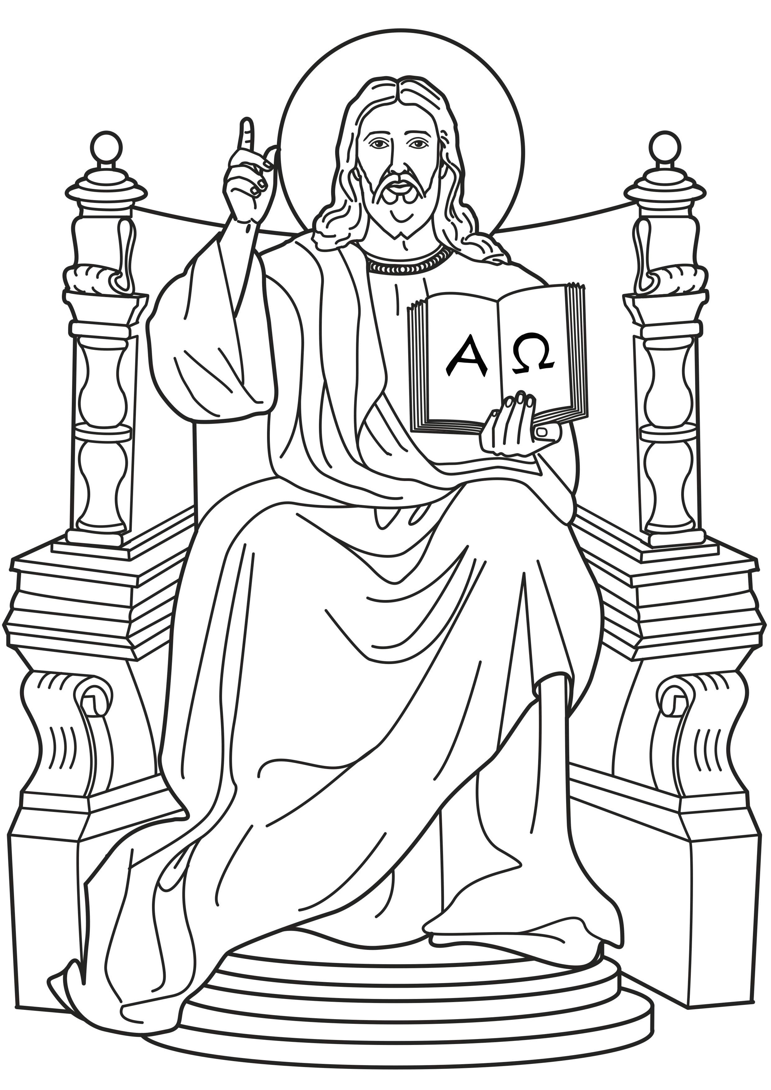 Pin By Deirdre On Catholic Coloring Pages For Kids To Colour Jesus Coloring Pages Christ The King Catholic Coloring