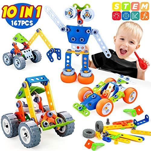 Insoon 10 In 1 Building Toys For Kids Stem Toys Kit ...