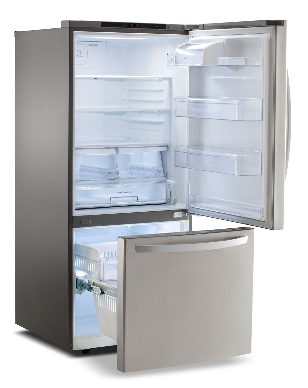 New Refrigerator Price Lg Appliances Stainless Steel Bottom Freezer Refrigerator 22 1 Cu