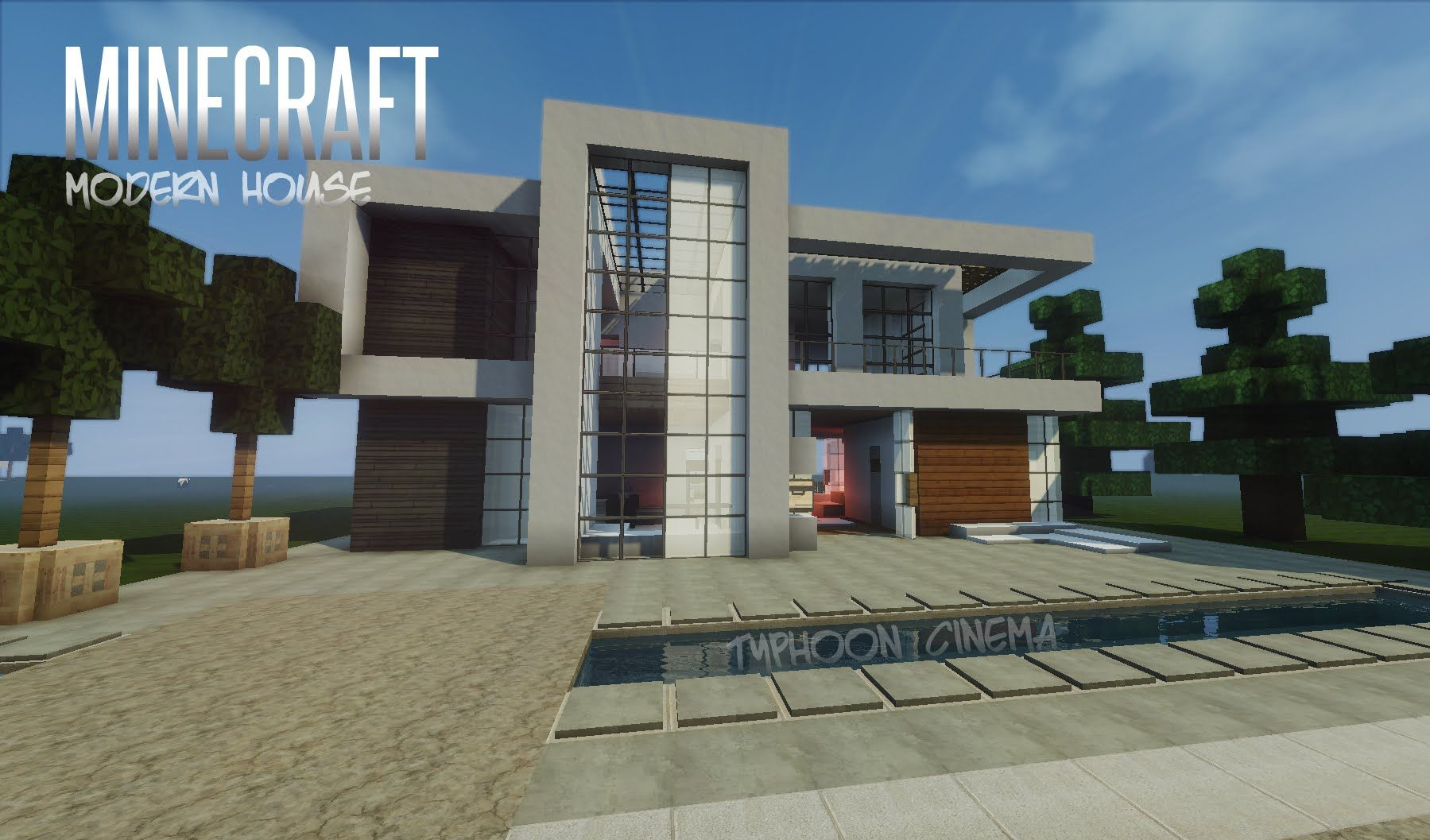 Great MINECRAFT: How To Build A Modern House / Best Modern House 2013   2014 (