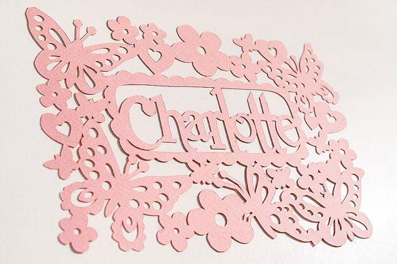 Papercut Commercial Template - Birthday Butterflies for a Girl - DIY