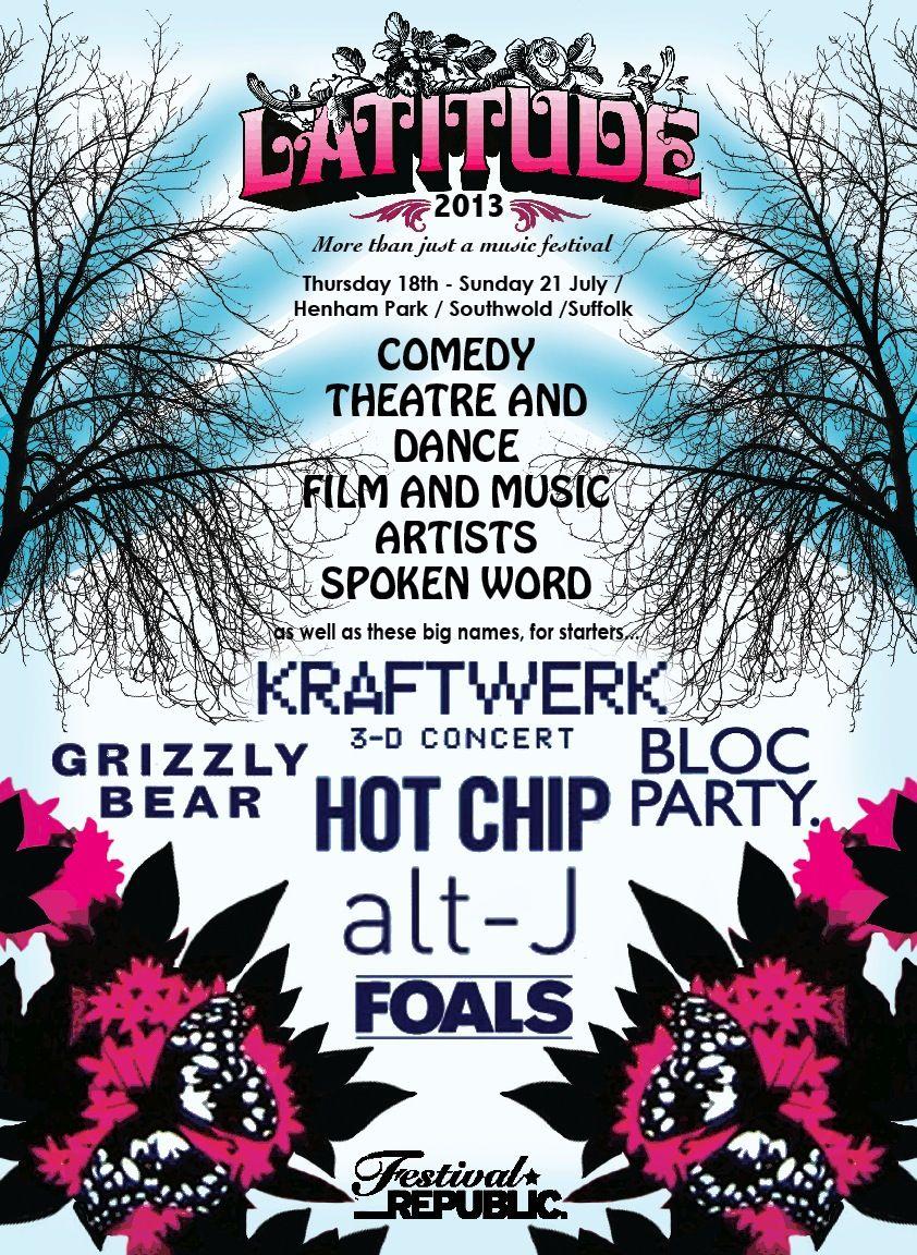 latitude festival poster