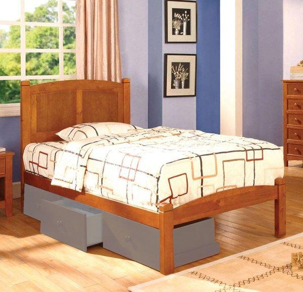 Furniture Of America Cara Oak Twin Bed Furniture Of America