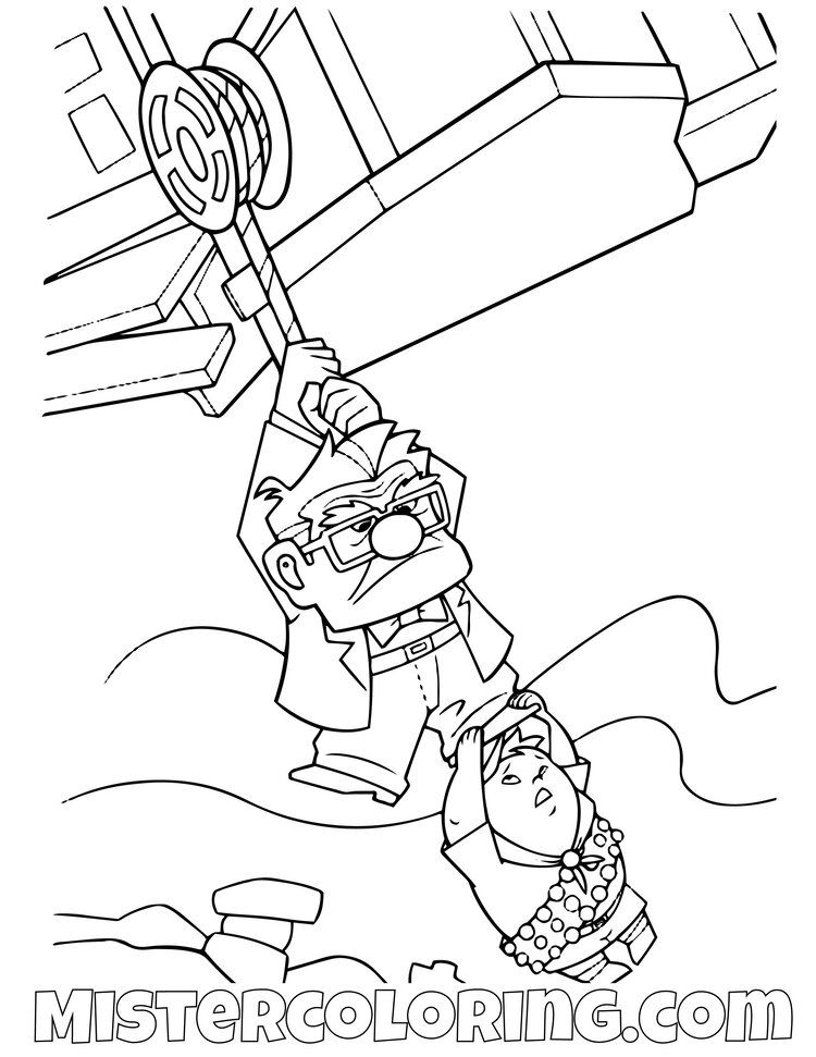 Up Coloring Pages For Kids Mister Coloring In 2020 Disney