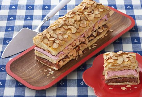 Ice cream and puff pastry combine for a beautiful and delicious dessert. You can make it to suit your taste - just change the ice cream flavors and the sundae toppings.