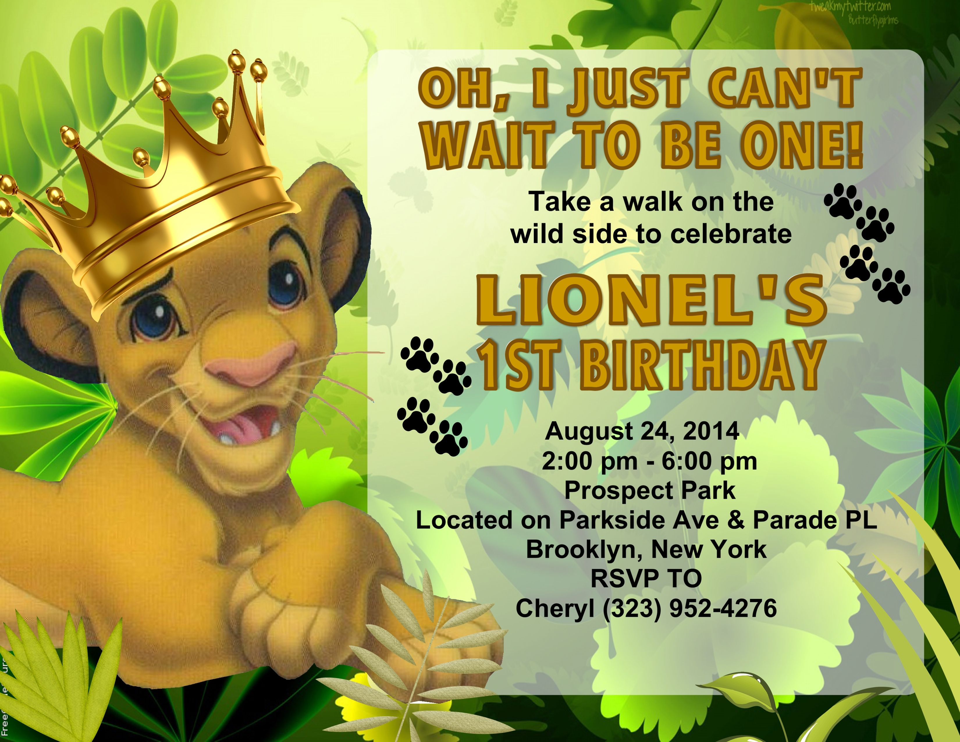 lion king crown birthday party