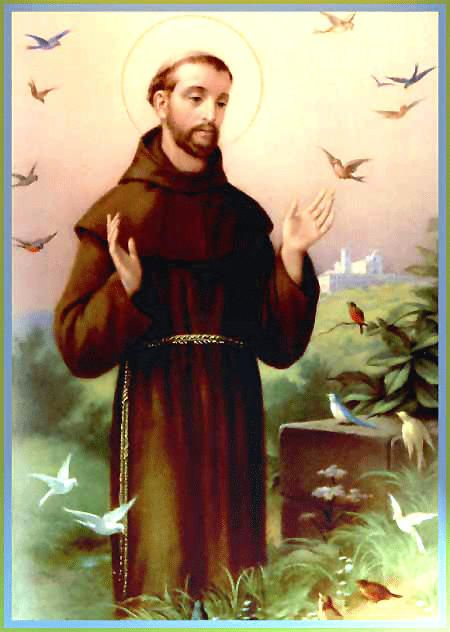 st francis of assisi garden statue patron of animals and the enviroment for the home