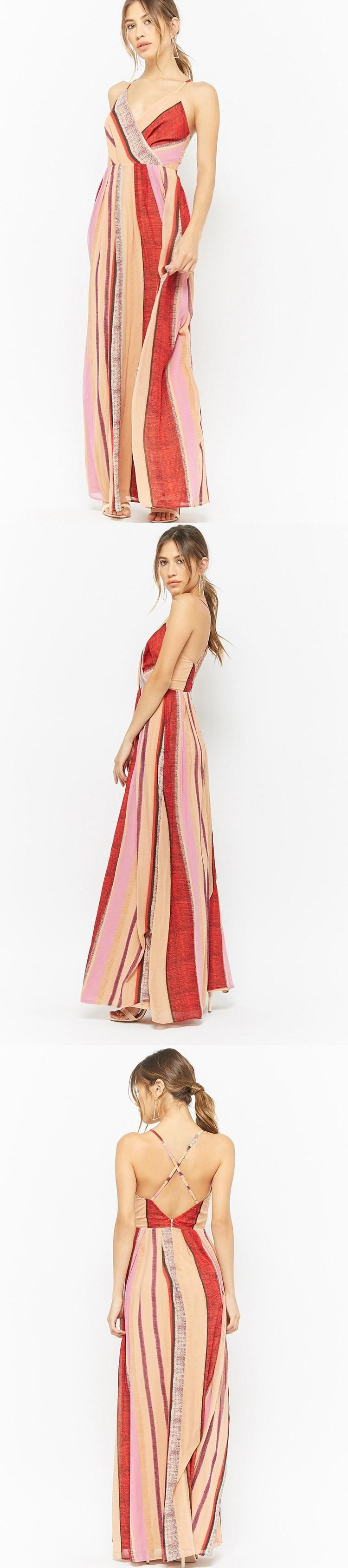 Chiffon striped maxi dress usd forever new forever