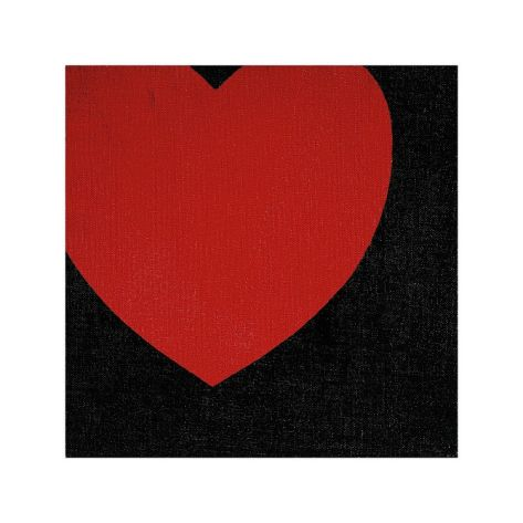Heart, c.1979 (Red on Black) Giclee Print by Andy Warhol at Art.com